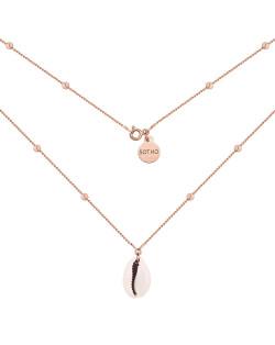 Naszyjnik z matowego różowego złota z konstelacją Barana