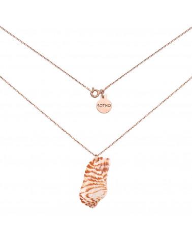 Naszyjnik z różowego złota z dużą muszlą