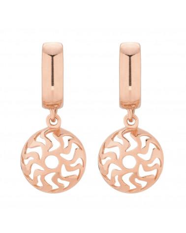 Kolczyki z różowego złota z medalionami