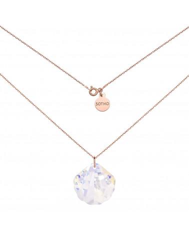 Naszyjnik z różowego złota z dużą muszlą SWAROVSKI® CRYSTAL