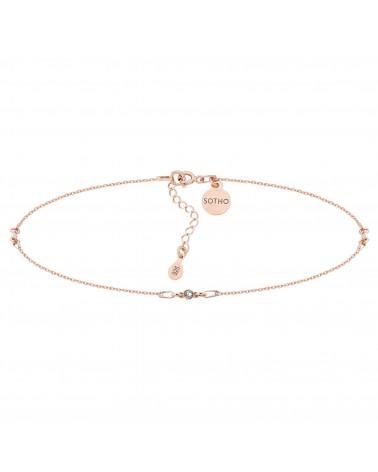 Choker z różowego złota bezbarwnymi kryształami SWAROVSKI® CRYSTAL