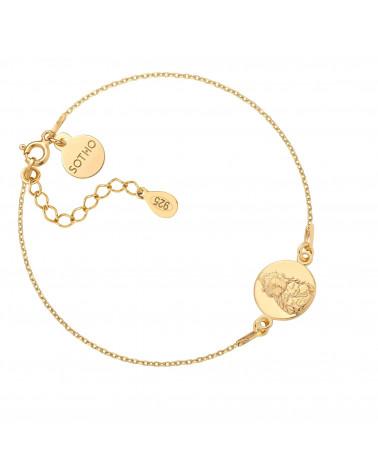 Złota bransoletka z Buddą