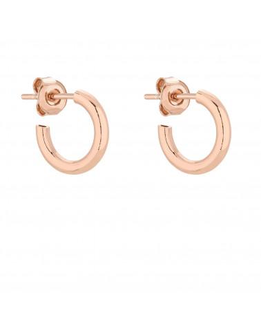 Półokrągłe kolczyki S z różwego złota