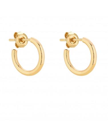 Złote półokrągłe kolczyki M