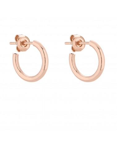 Półokrągłe kolczyki M z różowego złota