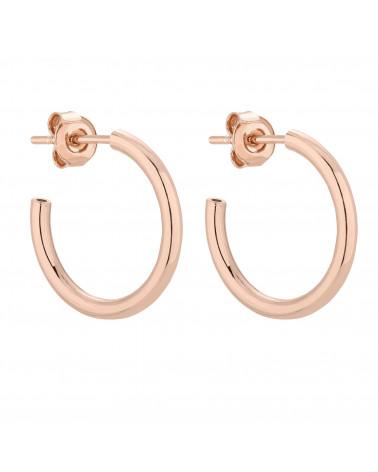 Półokrągłe kolczyki L z różowego złota