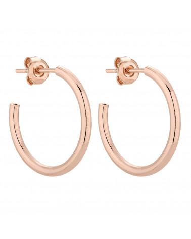 Półokrągłe kolczyki XL z różowego złota