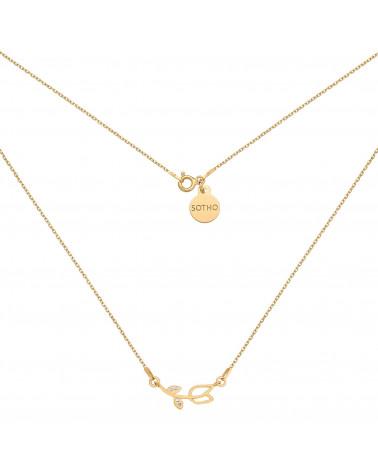 Złoty naszyjnik z tulipanem z kryształkami SWAROVSKI® CRYSTAL