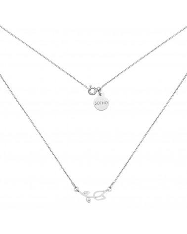 Srebrny naszyjnik z tulipanem wysadzanym kryształkami SWAROVSKI® CRYSTAL