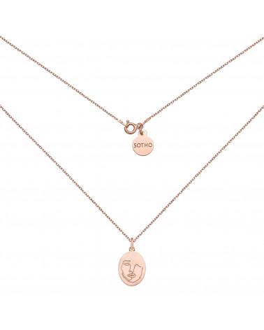 Medalion z różowego złota Face N°2