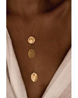 Złoty choker z opalizującymi kryształami SWAROVSKI® CRYSTAL
