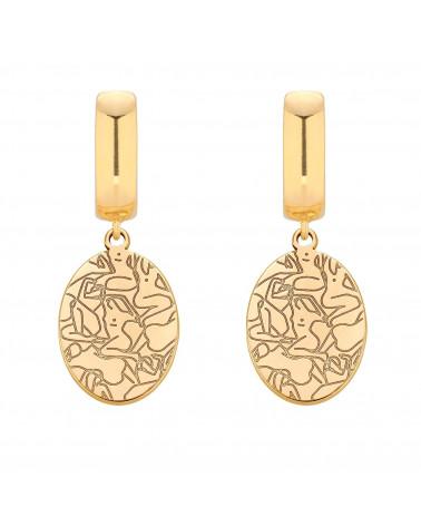 Złote kolczyki Art N°2