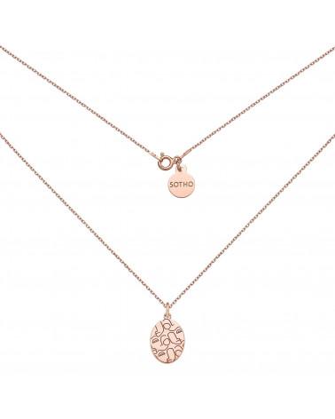 Medalion z różowego złota Art N°3