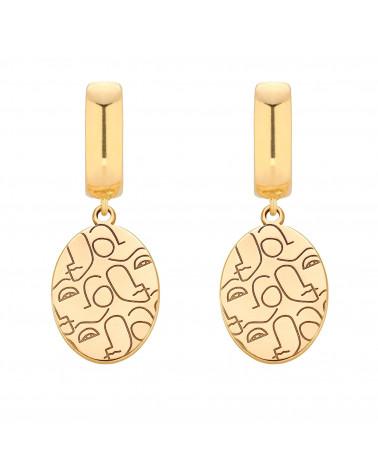 Złote kolczyki Art N°3