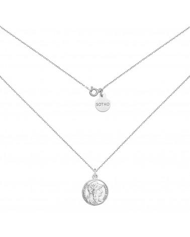 Srebrny medalion z monetą
