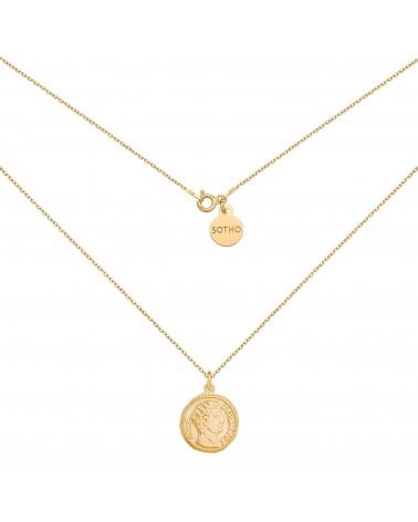 Złoty medalion z monetą