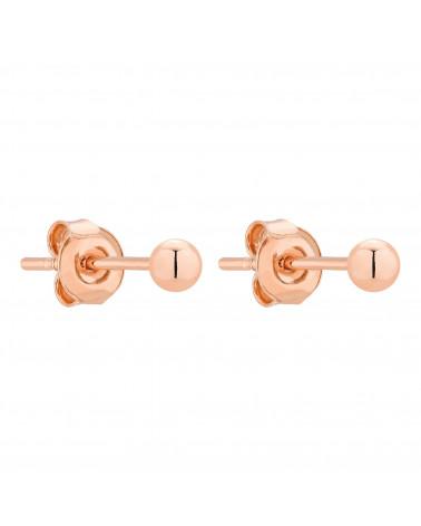 Kolczyki z kuleczką z różowego złota