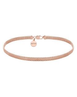 Choker z okrągłymi blaszkami z różowego złota i czarnymi kryształami SWAROVSKI® CRYSTAL