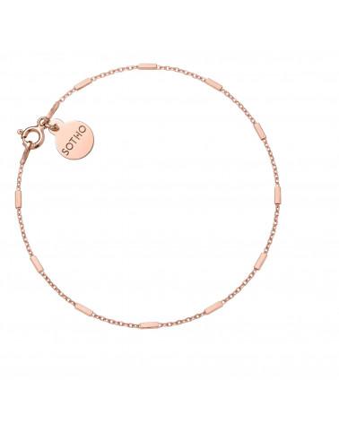 Łańcuszkowa bransoletka z różowego złota