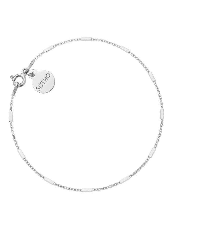 Srebrna łańcuszkowa bransoletka