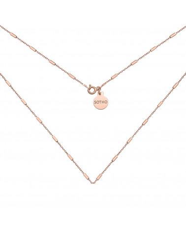 Łańcuszkowy naszyjnik z różowego złota