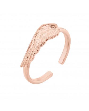 Pierścionek ze skrzydłem z różowego złota