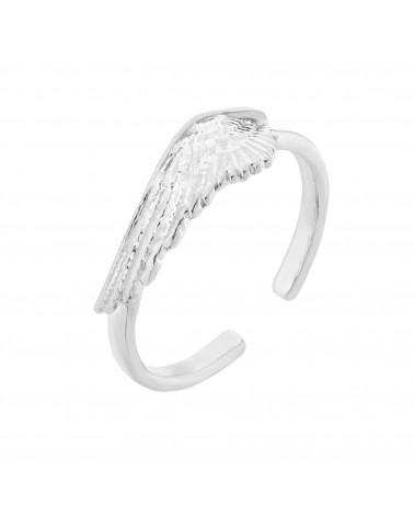 Srebrny pierścionek ze skrzydłem