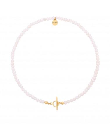Naszyjnik z pereł naturalnych ze złotym ozdobnym zapięciem