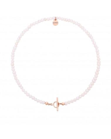 Naszyjnik z pereł naturalnych z ozdobnym zapięciem z różowego złota