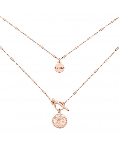 Naszyjnik z monetą z różowego złota