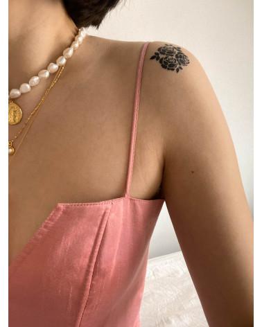 Naszyjnik z pereł naturalnych ze złotą monetą