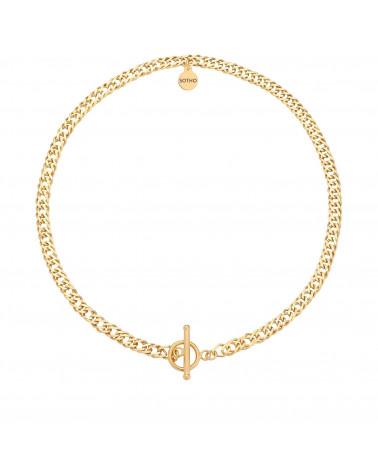Złoty masywny łańcuch