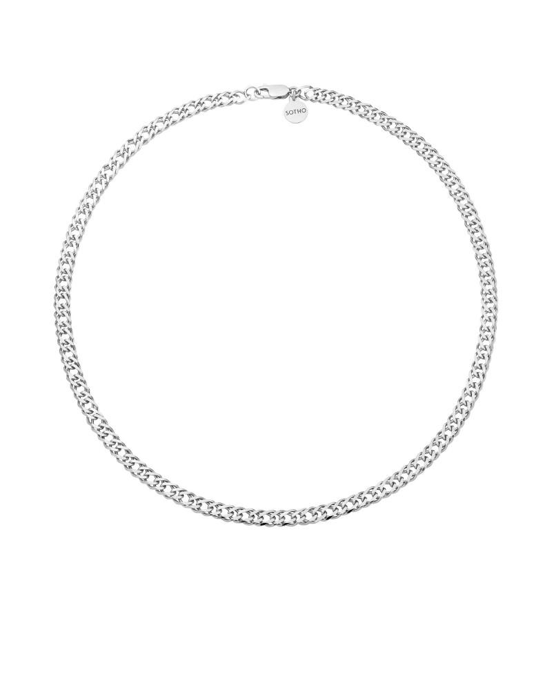 Srebrny masywny łańcuch