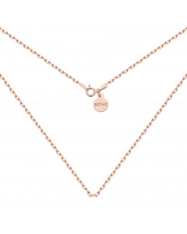 Masywny łańcuszek z różowego złota