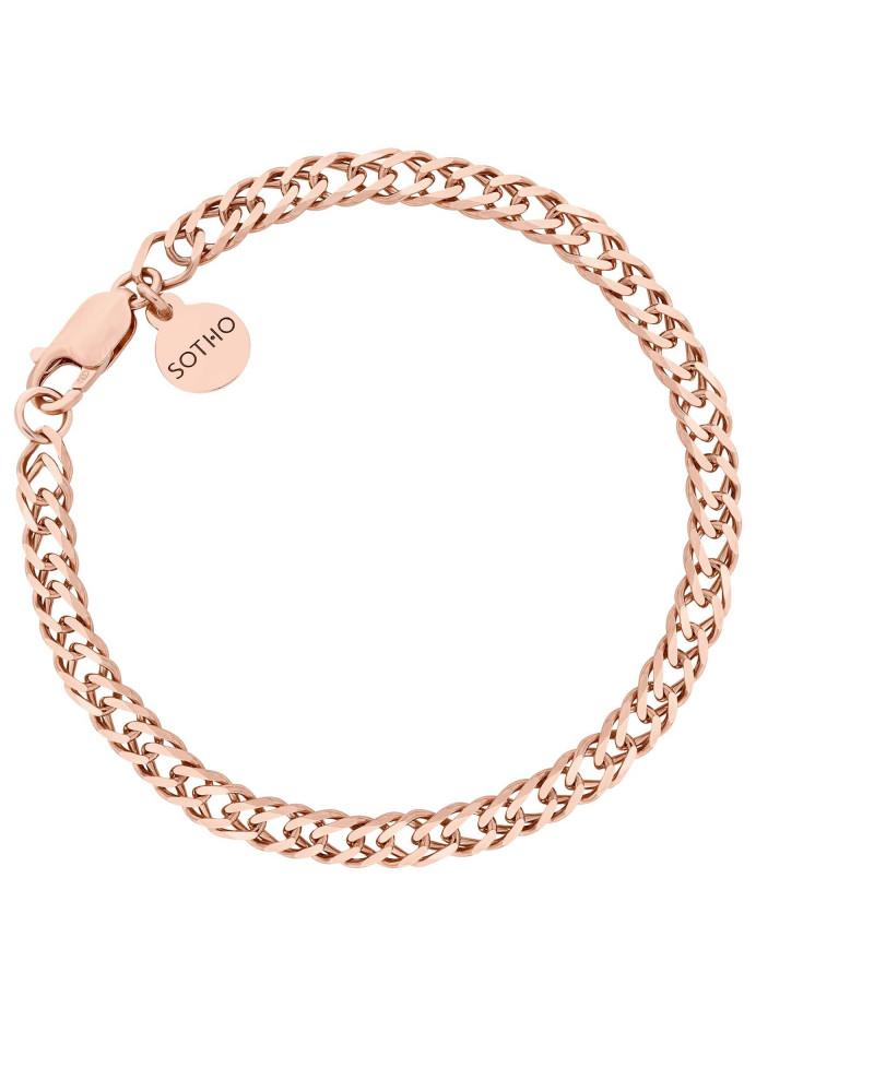 Masywna bransoletka z różowego złota