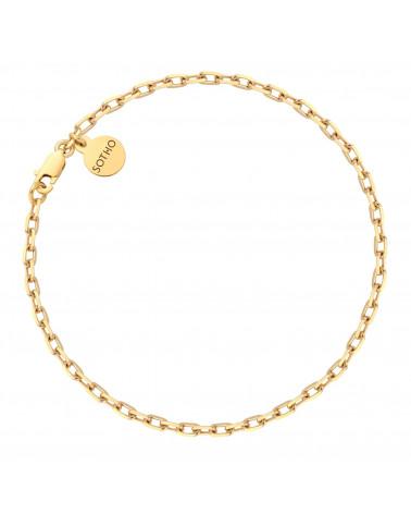 Złota masywna bransoletka na nogę