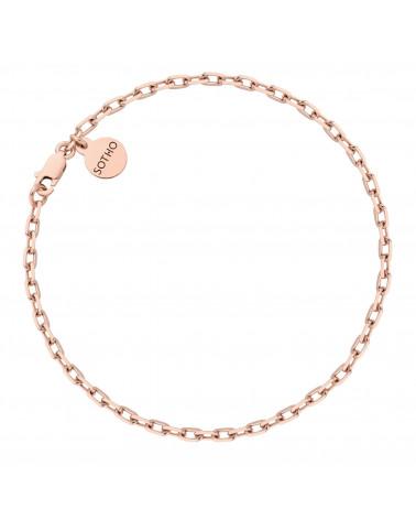 Masywna bransoletka na nogę z różowego złota