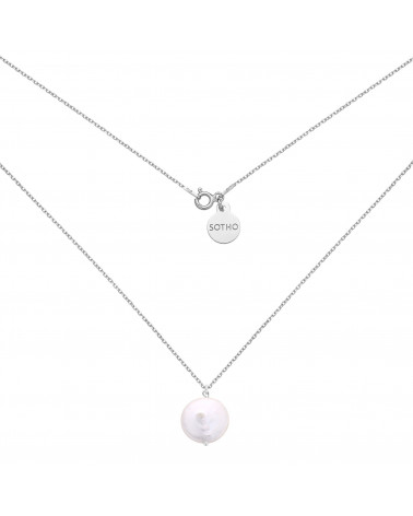 Srebrny naszyjnik z naturalną perłą