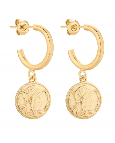Złote półkola M z monetami