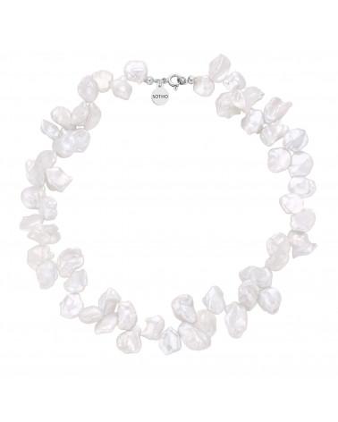 Srebrny naszyjnik z naturalnych pereł