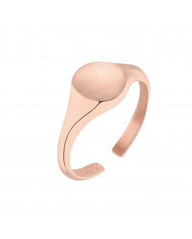 Mały sygnet z różowego złota