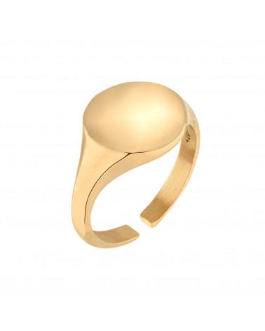 Złoty masywny sygnet