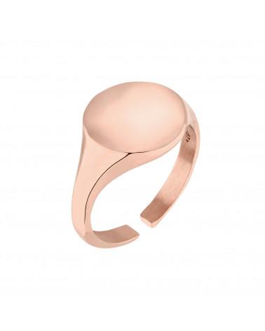 Masywny sygnet z różowego złota