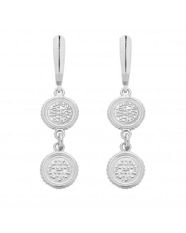 Srebrne kolczyki z monetami