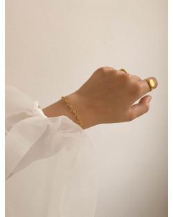Złoty naszyjnik z żurawiem