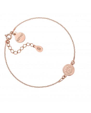 Bransoletka z monetą z różowego złota