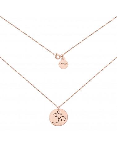 Medalion z różowego złota z symbolem OM