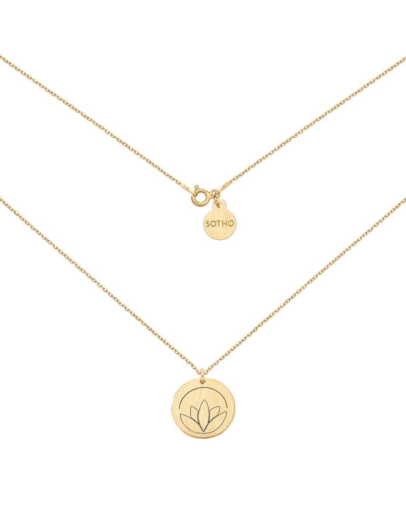 Złoty medalion z lotosem