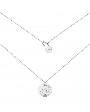 Srebrny medalion z lotosem