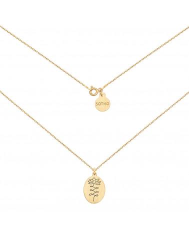 Złoty medalion z kwiatem lotosu
